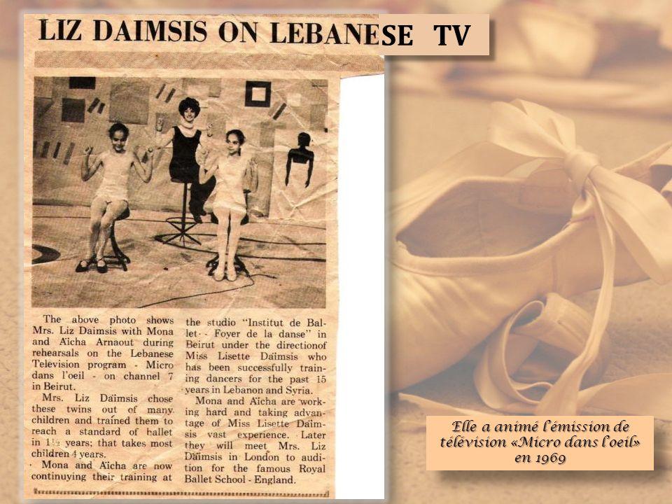 Elle a animé l'émission de télévision «Micro dans l'oeil» en 1969