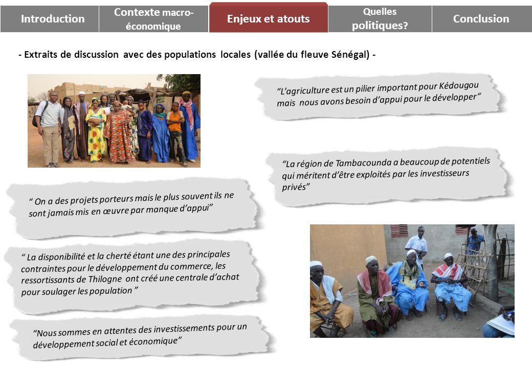 Introduction Contexte macro- Enjeux et atouts politiques Conclusion