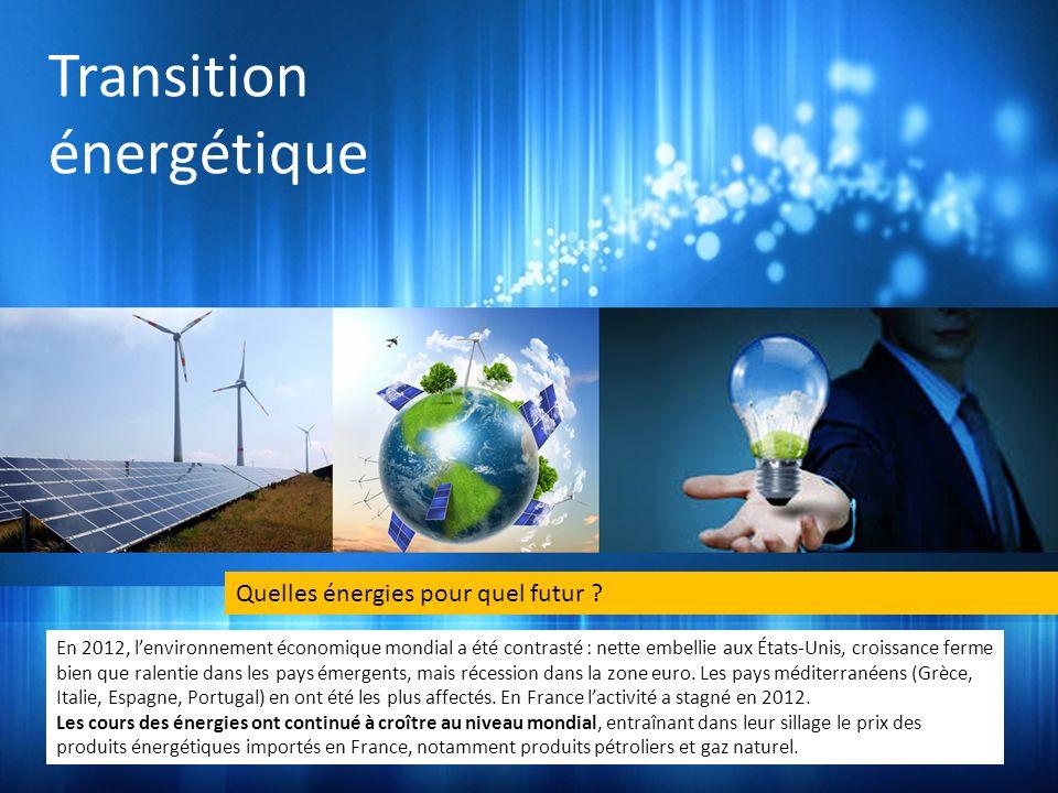 Transition énergétique Quelles énergies pour quel futur