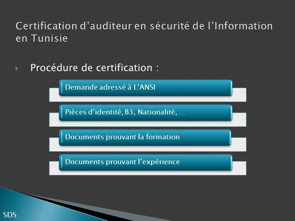Certification d'auditeur en sécurité de l'Information en Tunisie