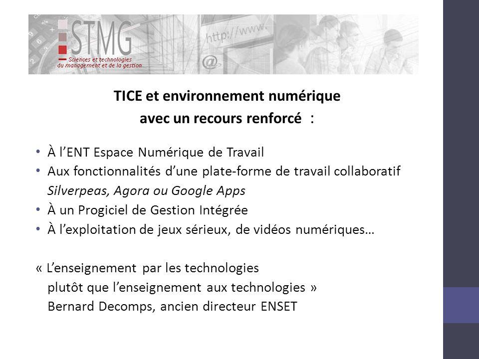 TICE et environnement numérique