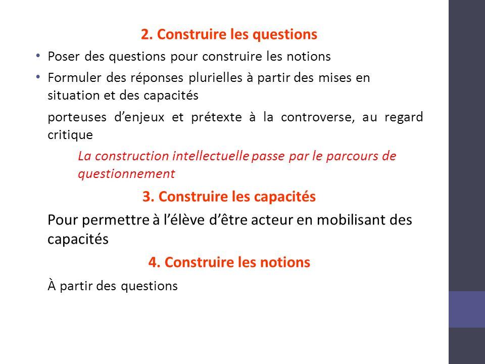 2. Construire les questions