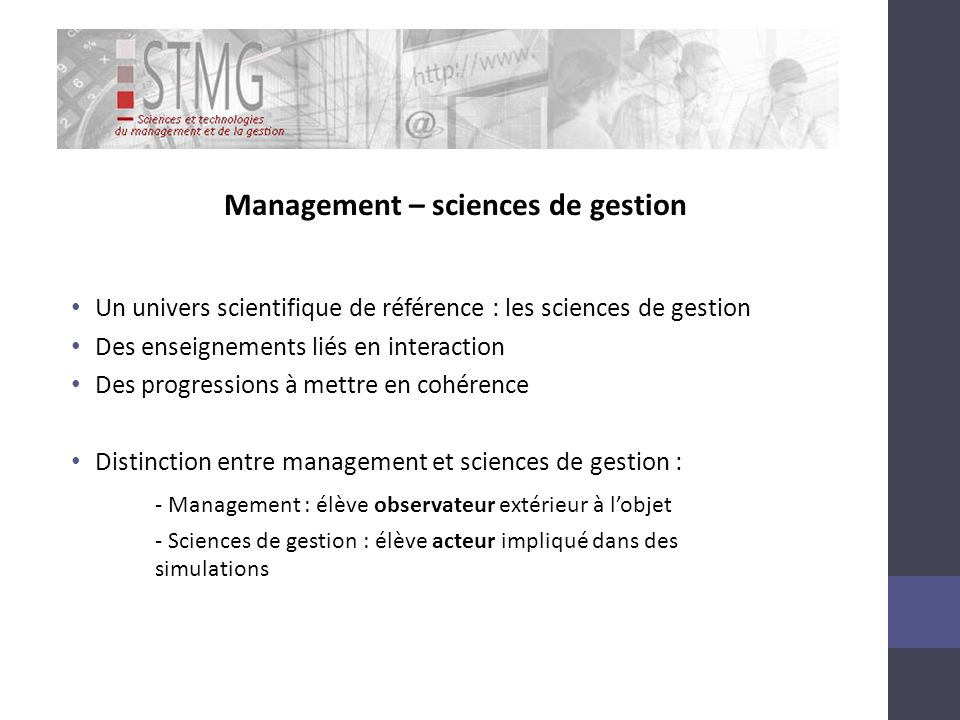 Management – sciences de gestion