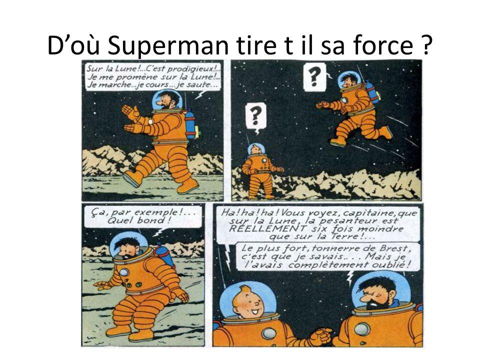 D'où Superman tire t il sa force