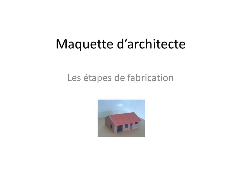 Maquette d'architecte