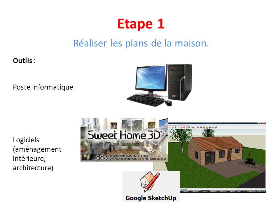 Réaliser les plans de la maison.