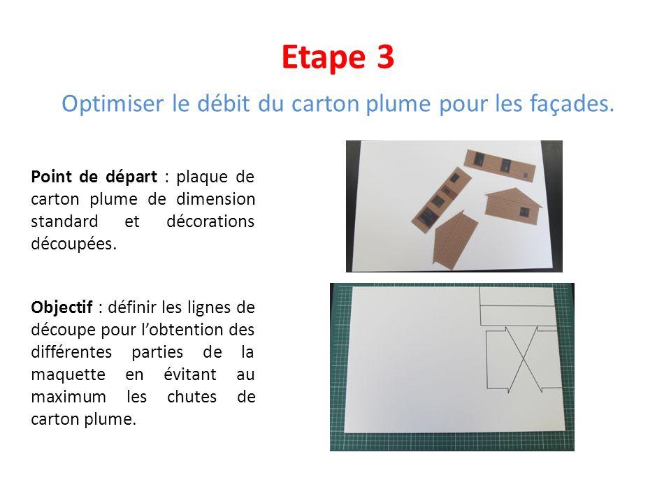 Optimiser le débit du carton plume pour les façades.
