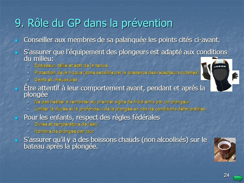 9. Rôle du GP dans la prévention
