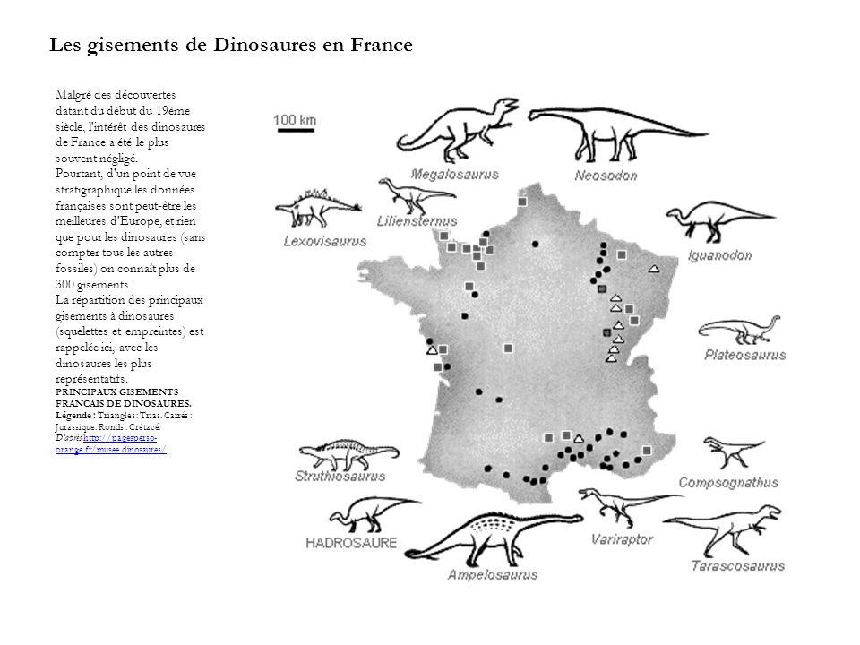 Les gisements de Dinosaures en France