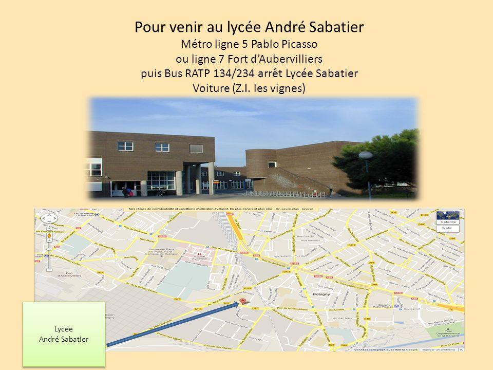 Pour venir au lycée André Sabatier