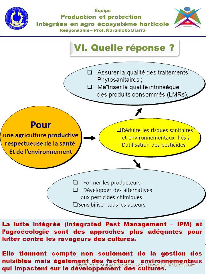 Pour VI. Quelle réponse une agriculture productive
