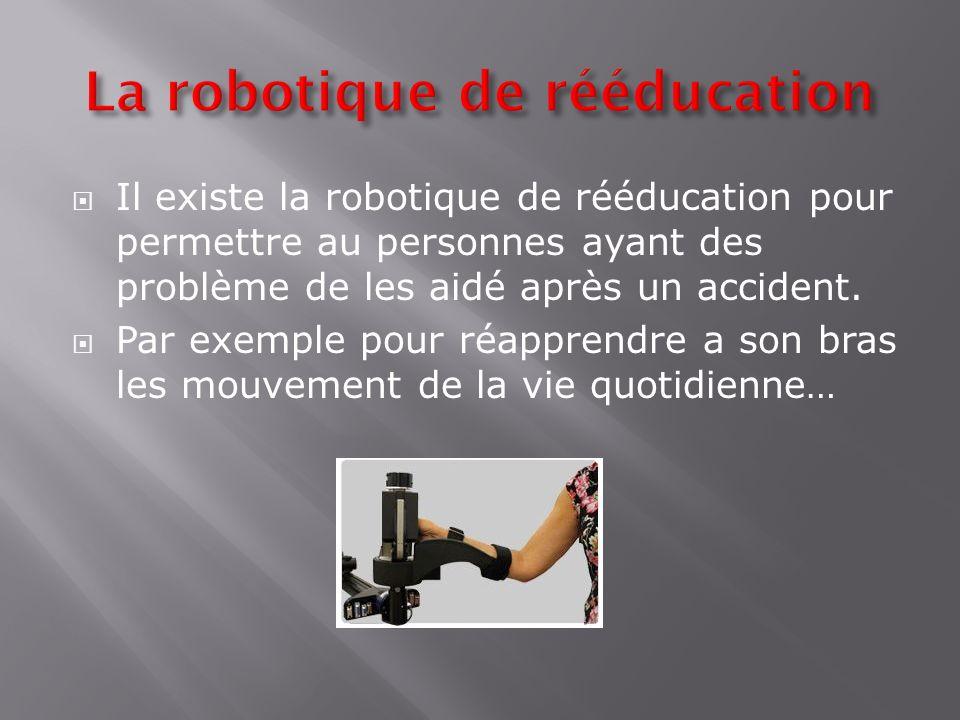 La robotique de rééducation