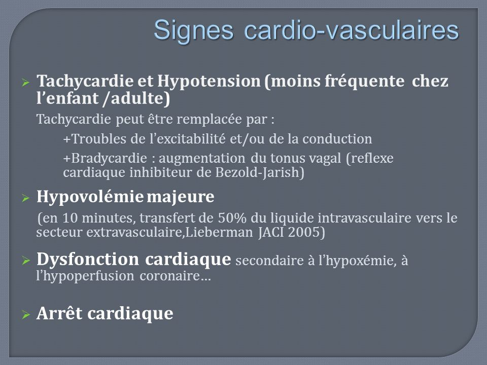Signes cardio-vasculaires
