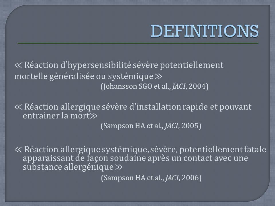 DEFINITIONS (Johansson SGO et al., JACI, 2004)