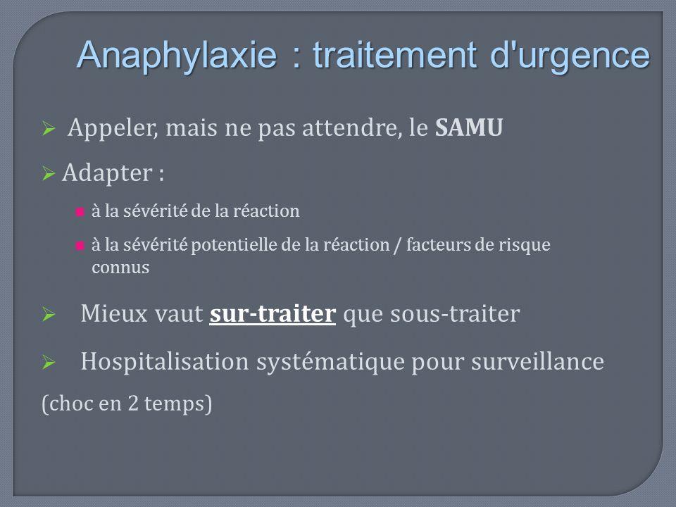 Anaphylaxie : traitement d urgence