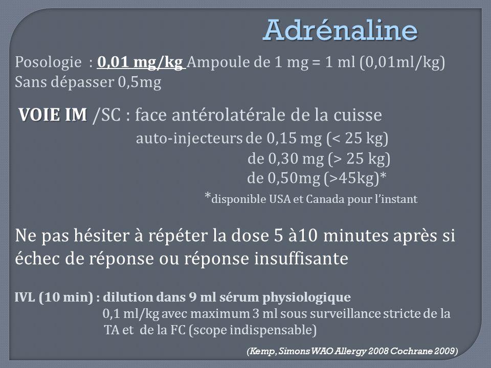 Adrénaline auto-injecteurs de 0,15 mg (< 25 kg)
