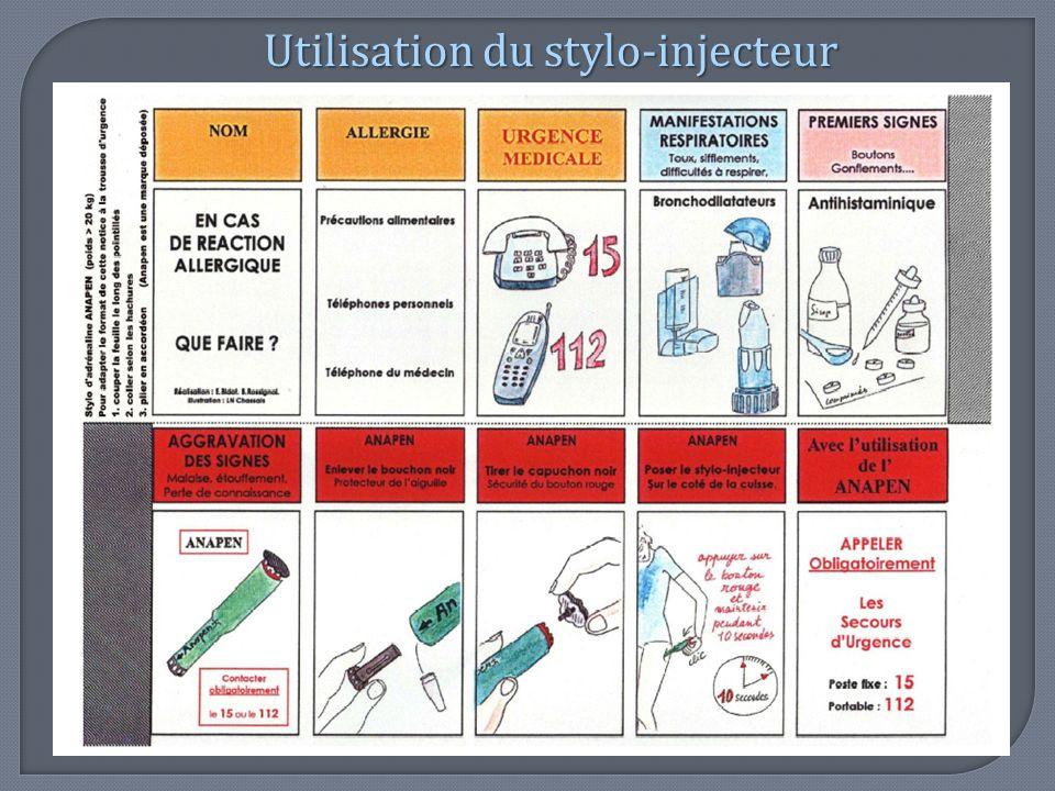 Utilisation du stylo-injecteur