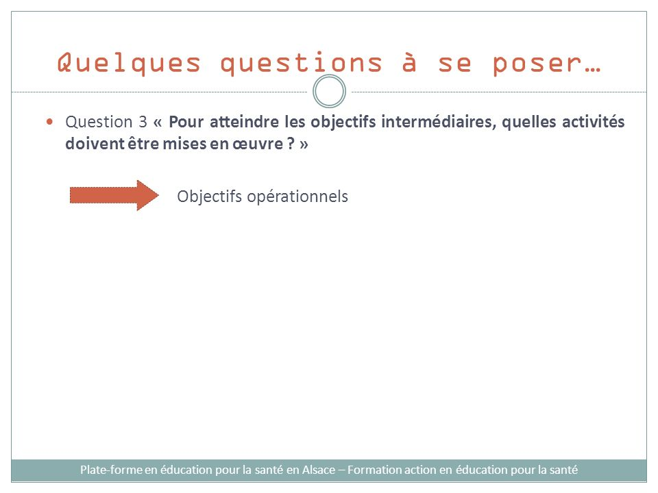 Quelques questions à se poser…