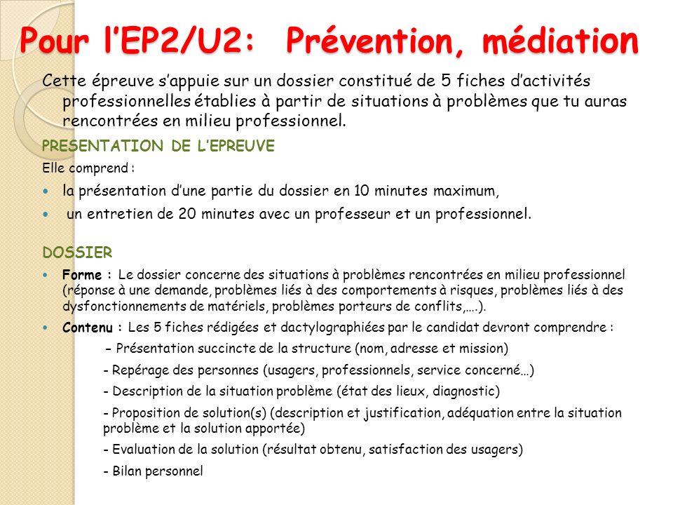Pour l'EP2/U2: Prévention, médiation