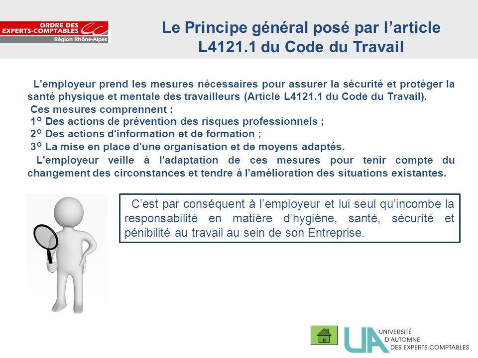 Le Principe général posé par l'article L4121.1 du Code du Travail