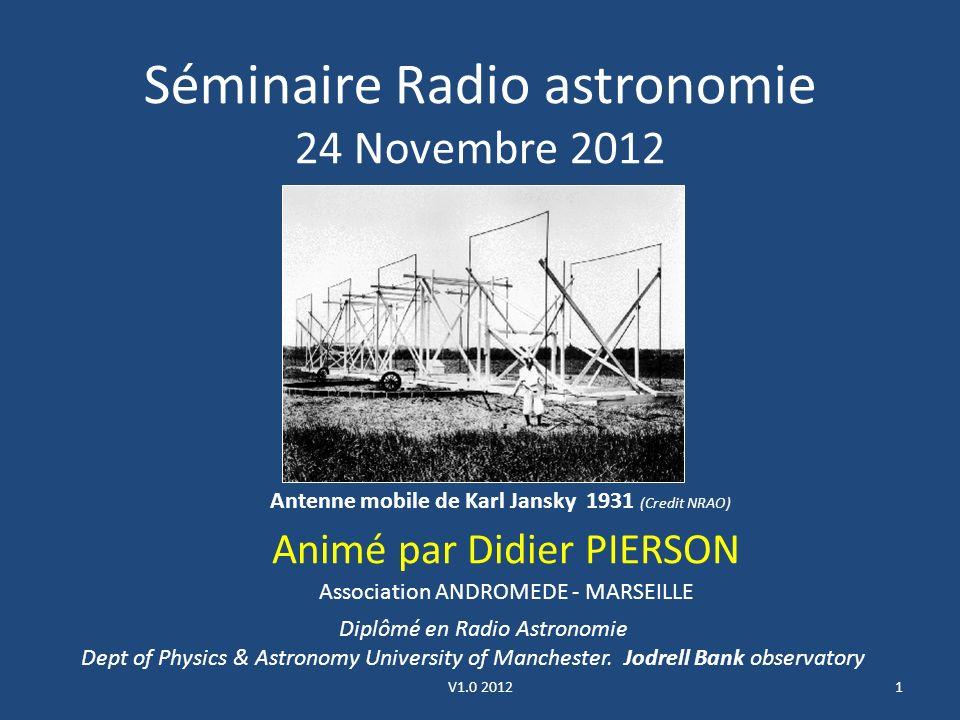 Séminaire Radio astronomie 24 Novembre 2012