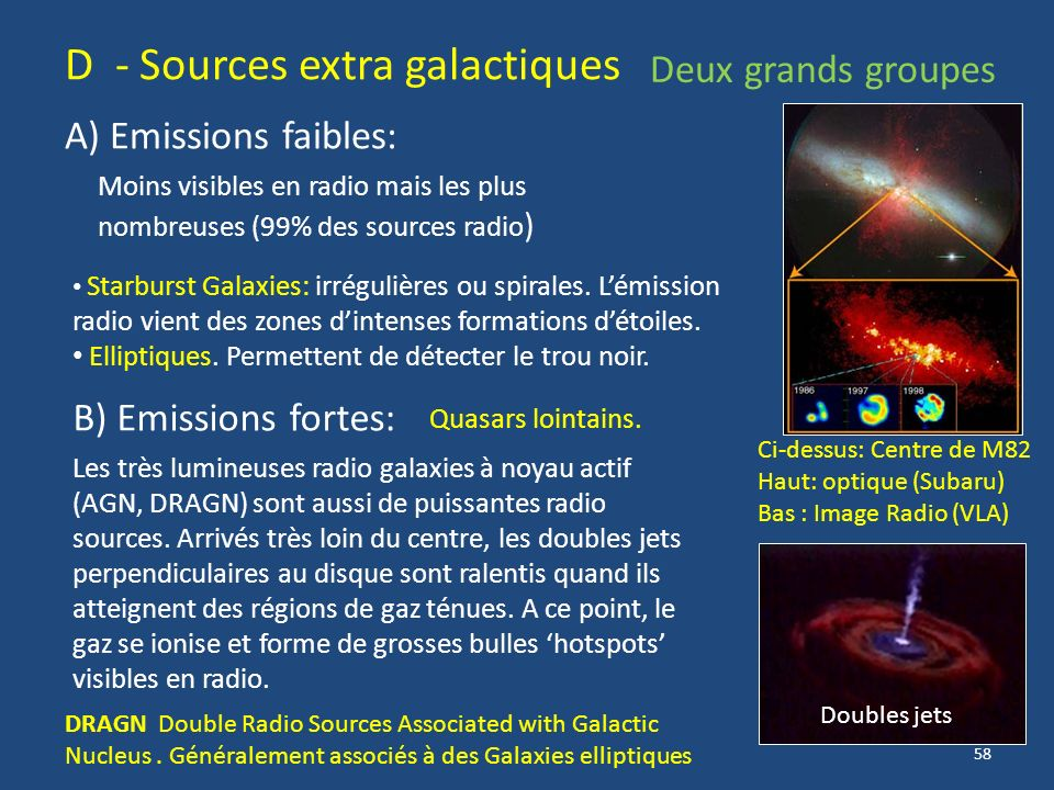 D - Sources extra galactiques
