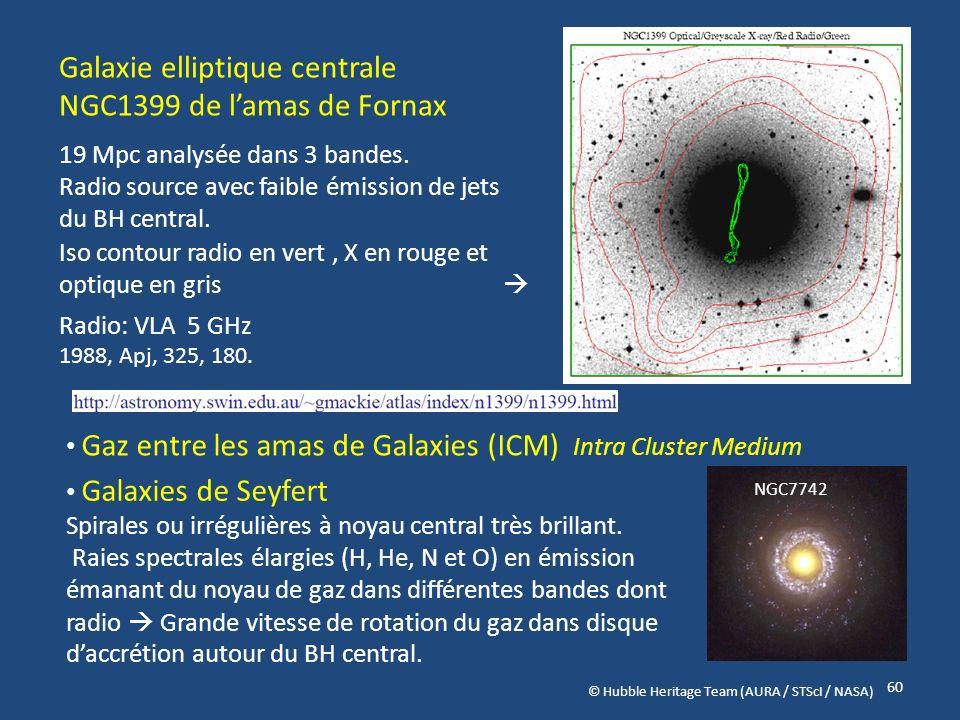 Galaxie elliptique centrale NGC1399 de l'amas de Fornax
