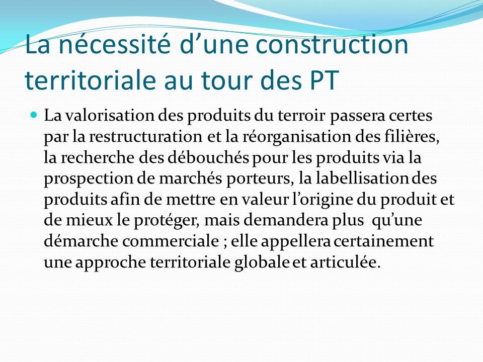 La nécessité d'une construction territoriale au tour des PT