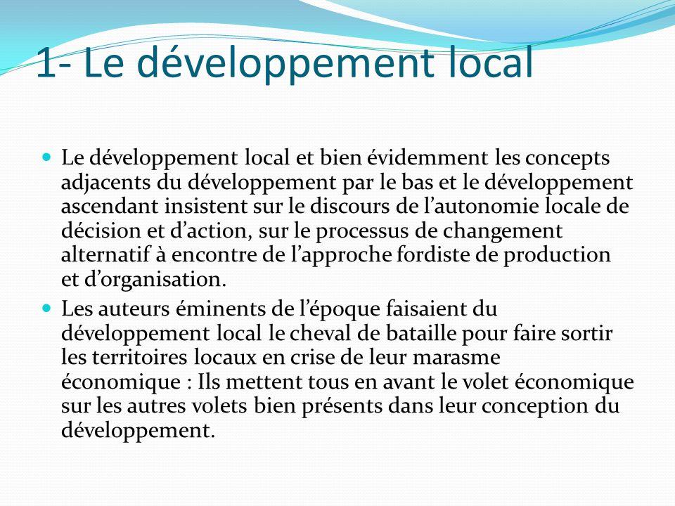 1- Le développement local