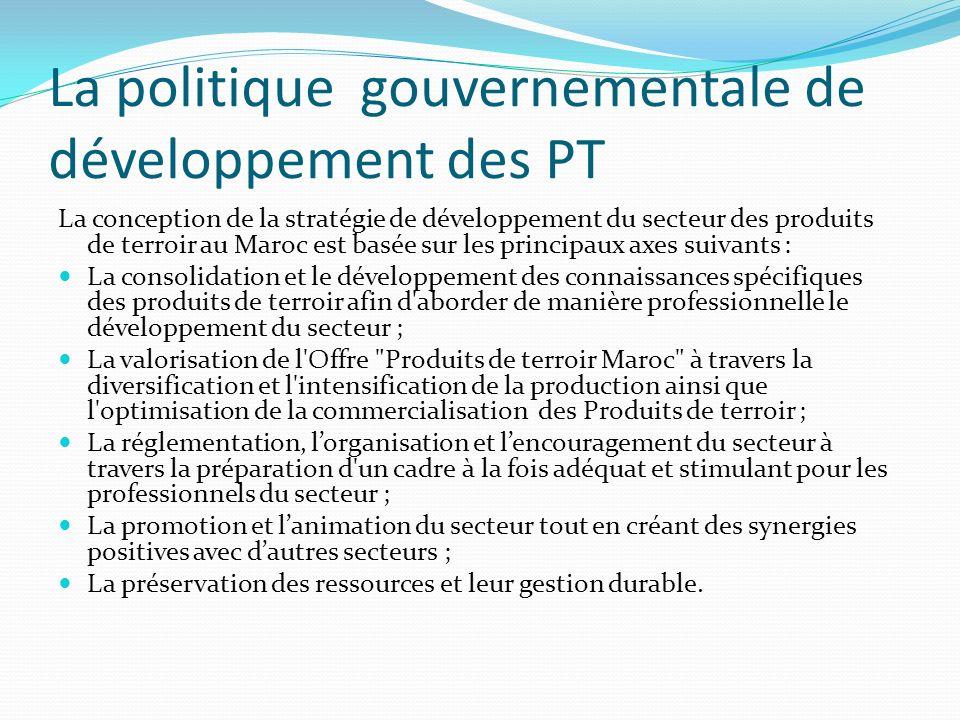 La politique gouvernementale de développement des PT