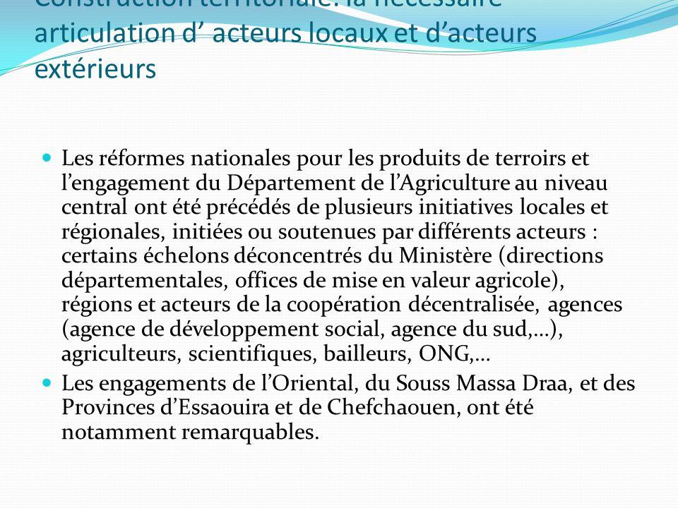 Construction territoriale: la nécessaire articulation d' acteurs locaux et d'acteurs extérieurs