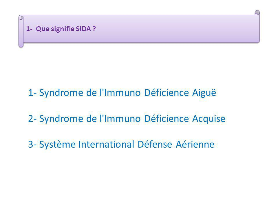 1- Syndrome de l Immuno Déficience Aiguë