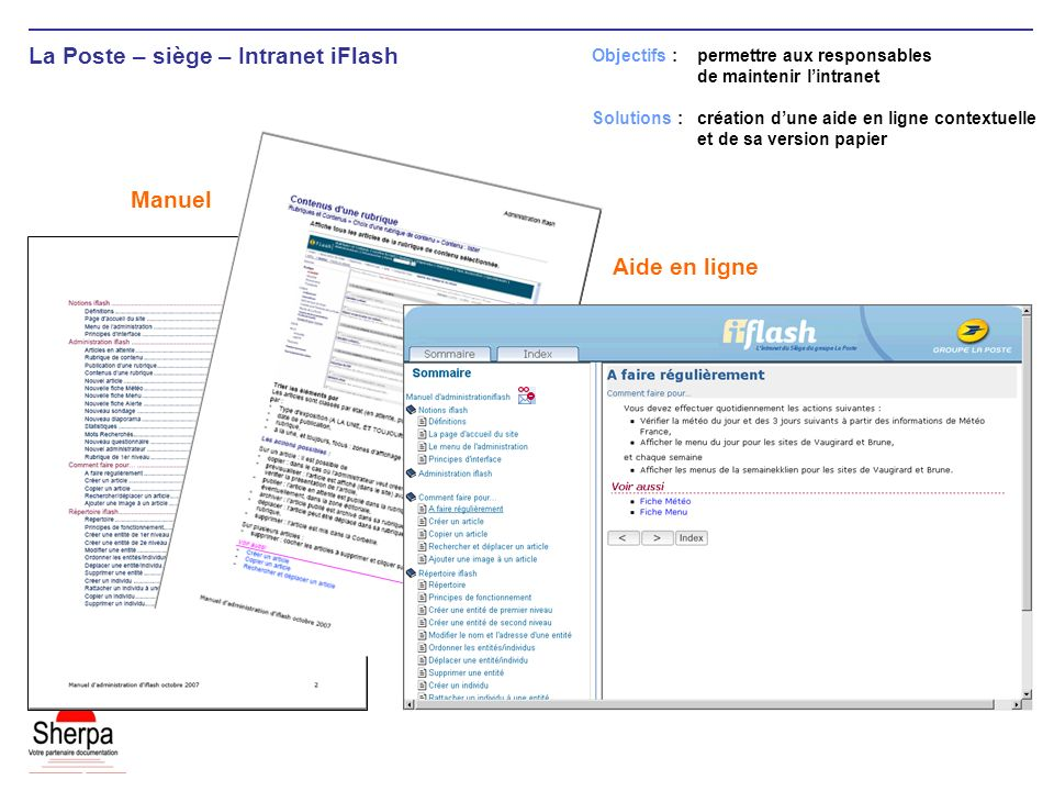 La Poste – siège – Intranet iFlash