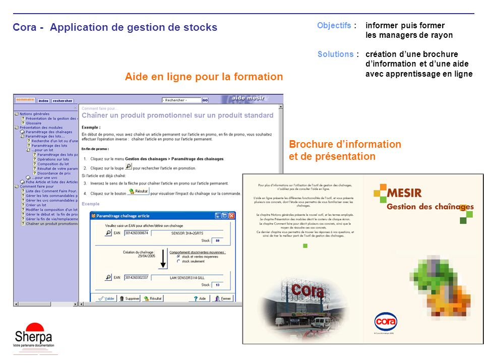 Cora - Application de gestion de stocks