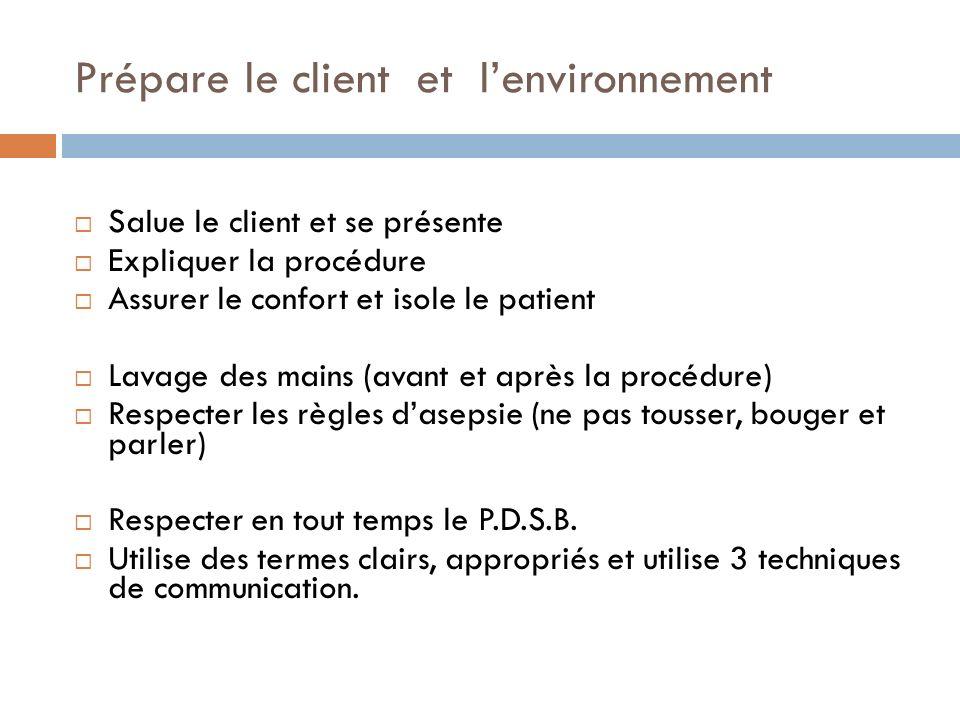 Prépare le client et l'environnement