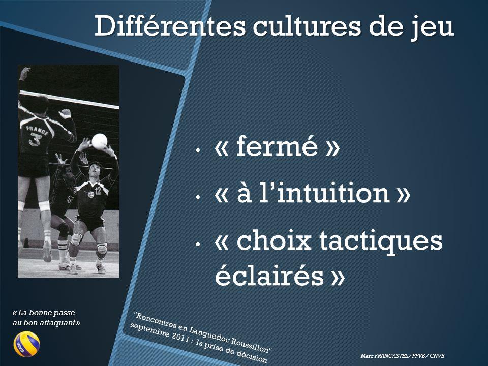 Différentes cultures de jeu
