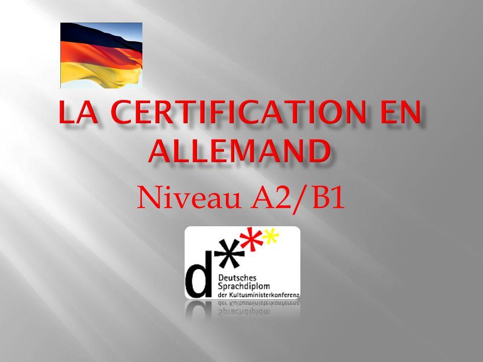 La certification en allemand