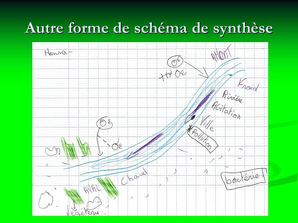Autre forme de schéma de synthèse