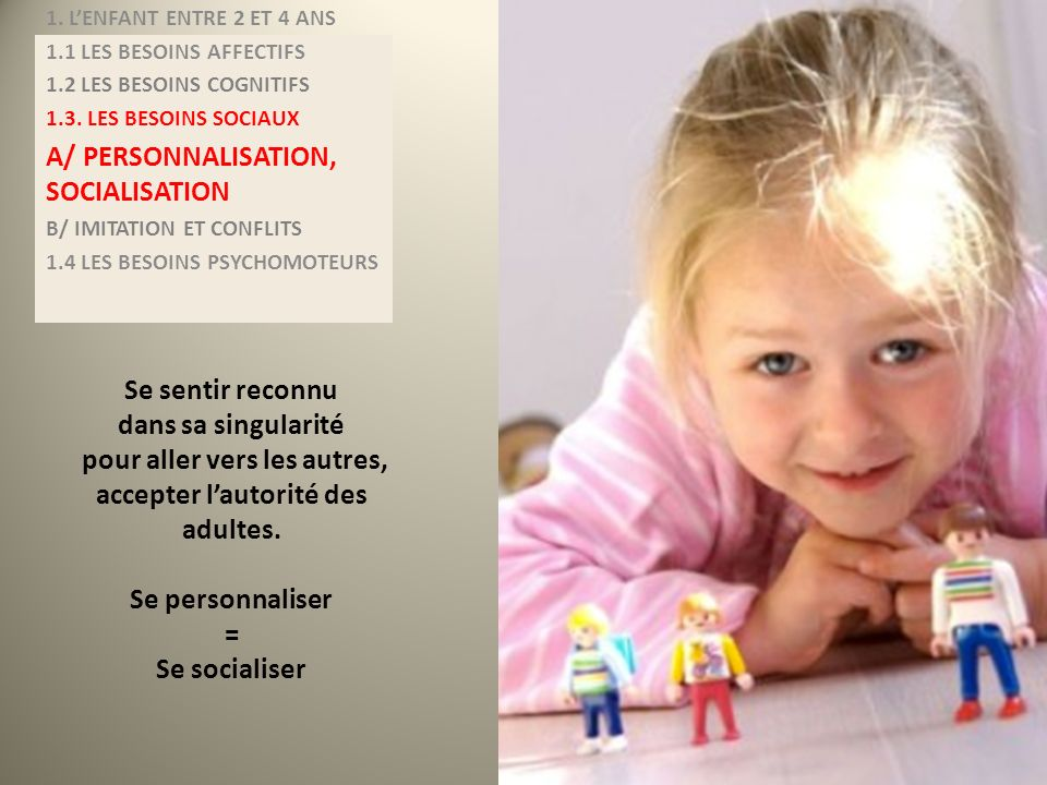 A/ PERSONNALISATION, SOCIALISATION
