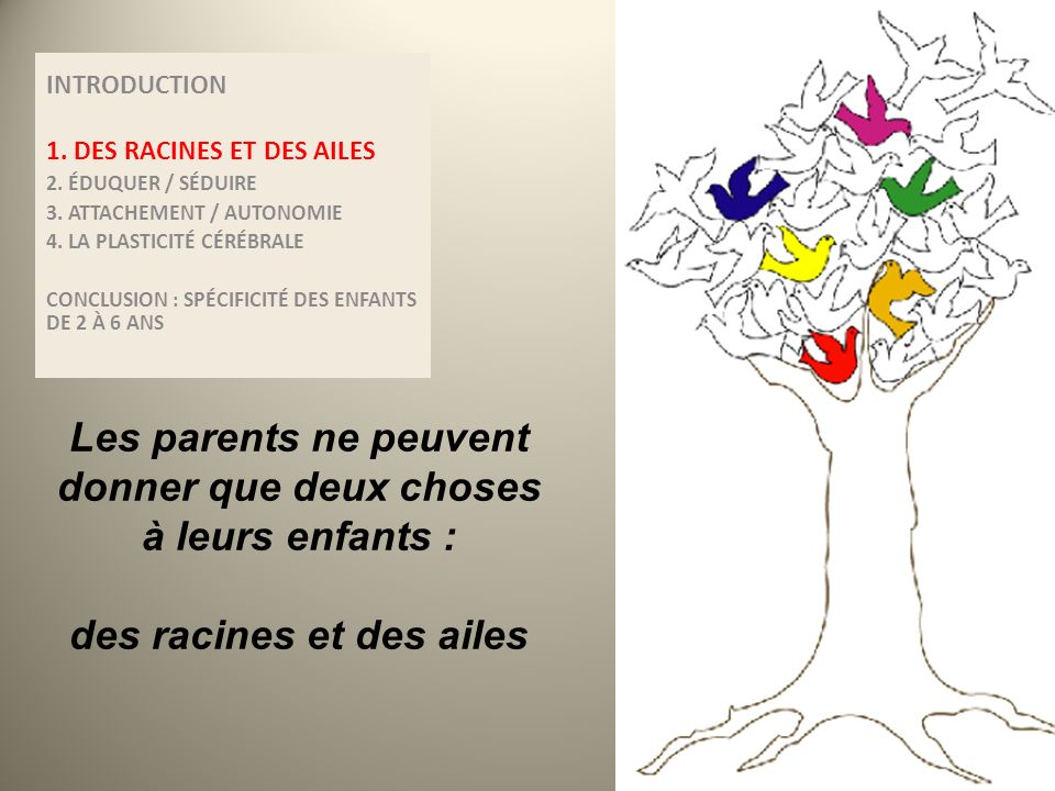 Les parents ne peuvent donner que deux choses