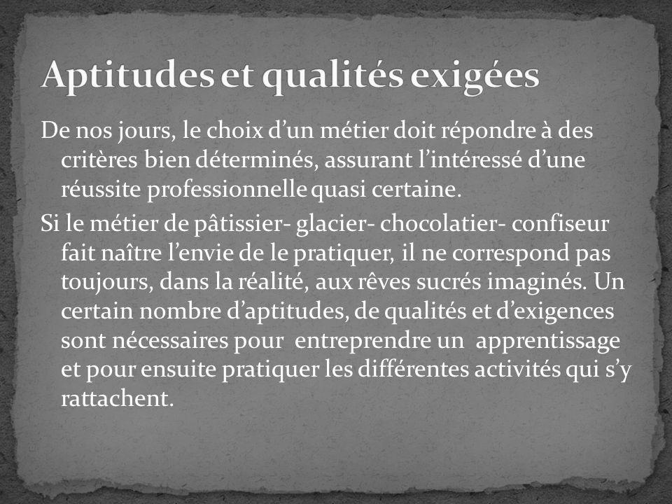 Aptitudes et qualités exigées