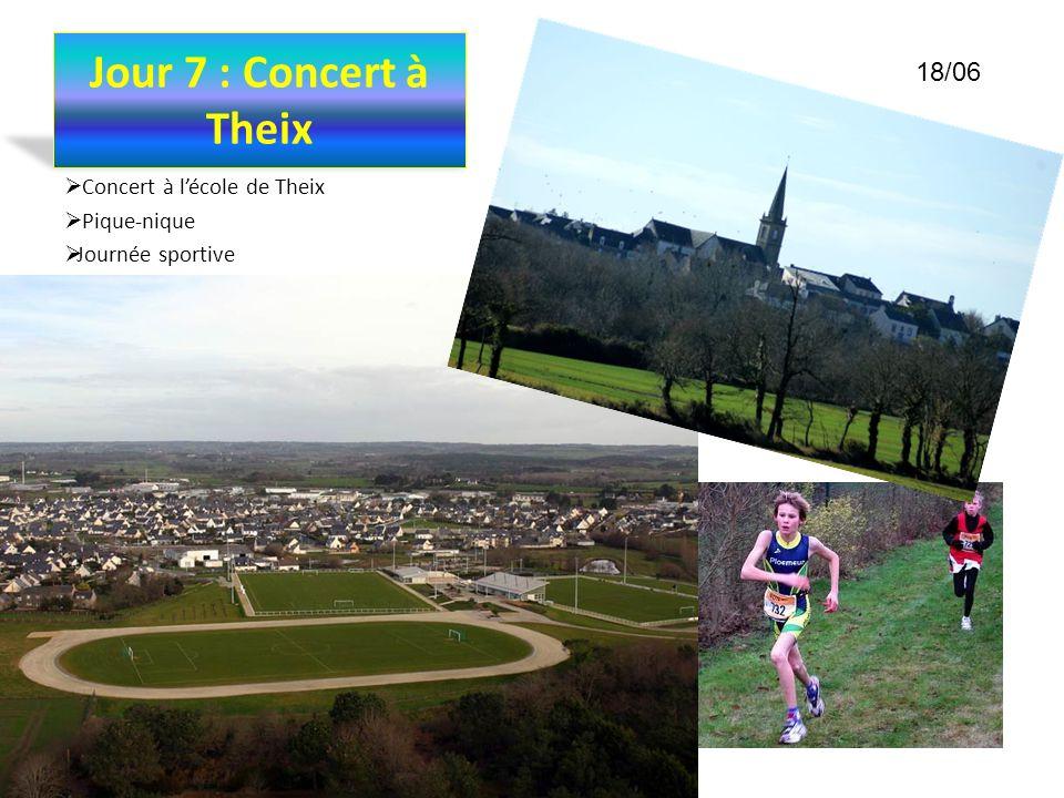 Jour 7 : Concert à Theix 18/06 Concert à l'école de Theix Pique-nique