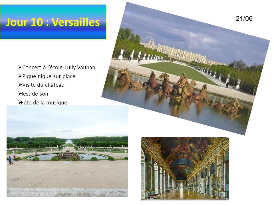 Jour 10 : Versailles 21/06 Concert à l'école Lully Vauban.
