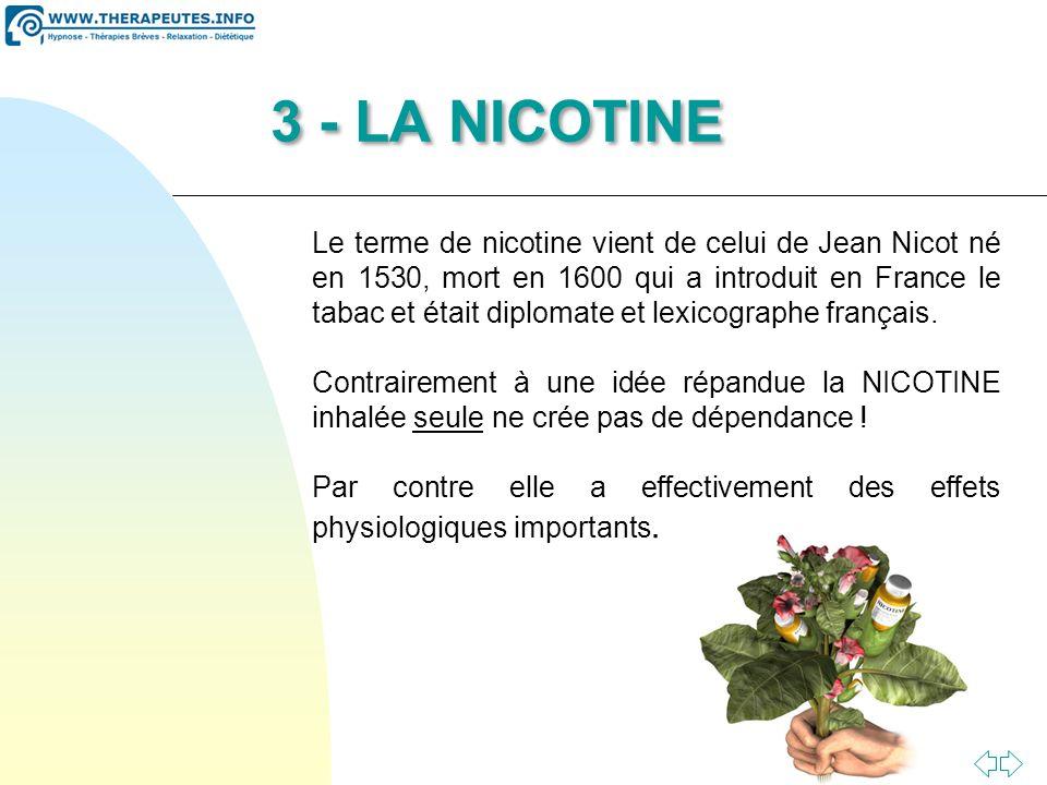 3 - LA NICOTINE