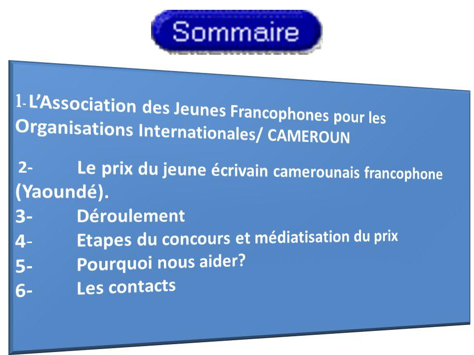 1- L'Association des Jeunes Francophones pour les Organisations Internationales/ CAMEROUN