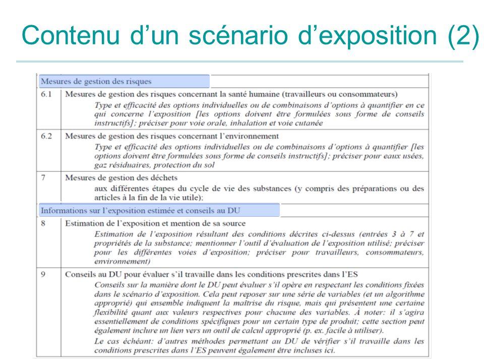 Contenu d'un scénario d'exposition (2)