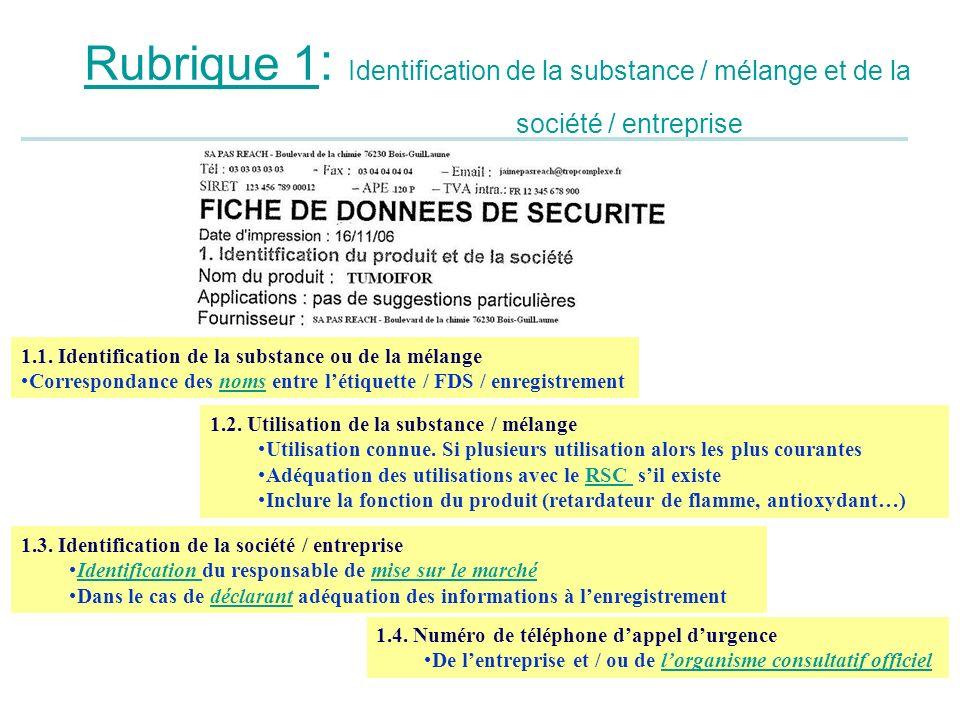 Rubrique 1: Identification de la substance / mélange et de la société / entreprise