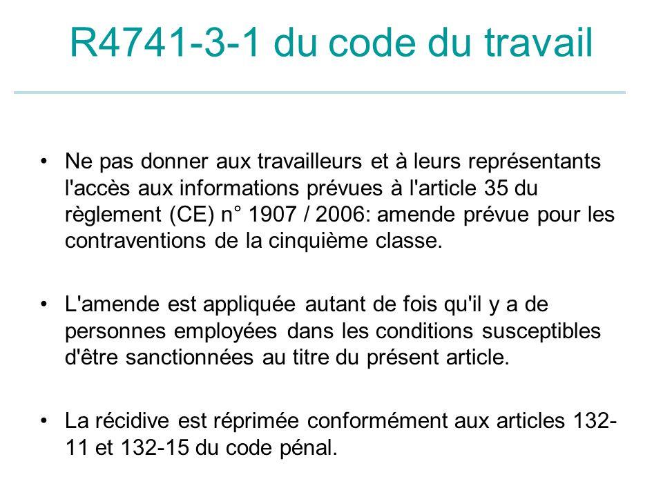 R4741-3-1 du code du travail