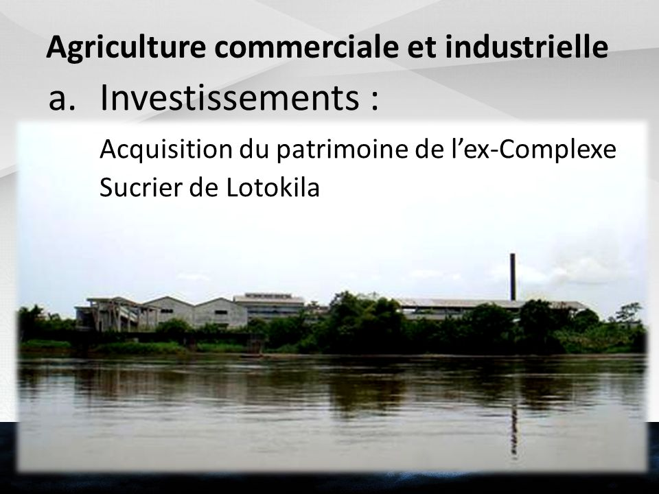 Agriculture commerciale et industrielle