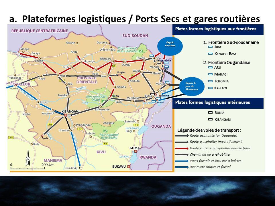 a. Plateformes logistiques / Ports Secs et gares routières